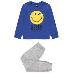 Pijama de punto con dibujo de Smiley de borreguillo