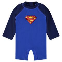 Mono corto antirrayo UV ©Marvel con estampado logo de Superman
