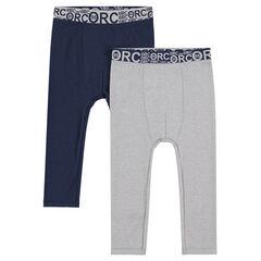 Juego de 2 leggings de algodón con cintura elástica