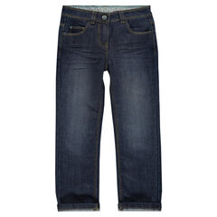 Jeans de corte recto efecto usado , Orchestra