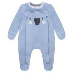 Pijama de terciopelo con koala por delante