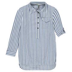 Júnior - Camisa larga con rayas verticales all-over