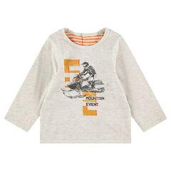Camiseta de manga larga de punto reversible