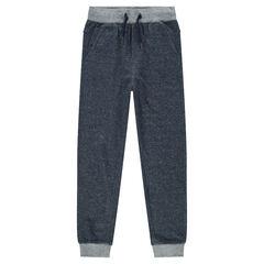 Júnior - Pantalón de jogging de felpa jaspeada