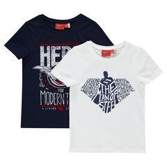Lote de 2 camisetas manga corta con estampado Superman