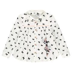 Camisa evasé con motivo de lazos y estampado de Disney Minnie