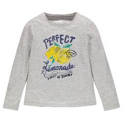Camiseta de manga larga con estampado de fantasía brillante