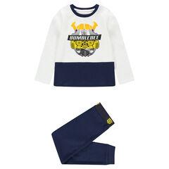 Pijama de punto bicolor con estampado de ©Transformers