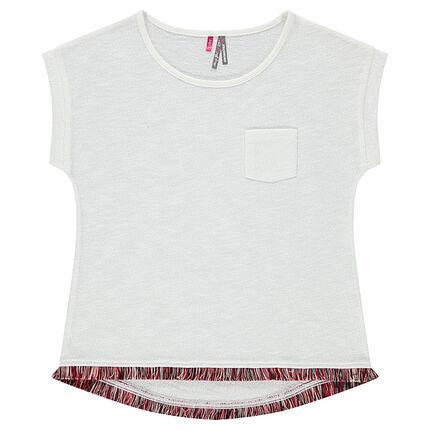Júnior - Camiseta de manga corta con flecos de fantasía