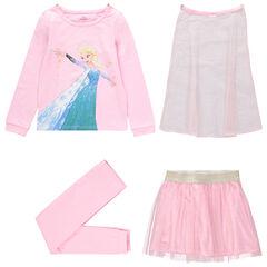 Pijama de punto de 4 piezas Frozen Disney