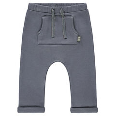 Pantalón de chándal con tiro bajo y bolsillo canguro