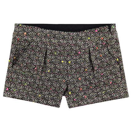 Shorts de jacquard con toques de colores