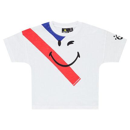 Camiseta de manga corta con estampado de ©Smiley COPA DEL MUNDO DE FÚTBOL 2018