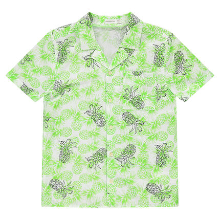 1240db077 Júnior - Camisa de manga corta con piñas estampadas - Orchestra ES