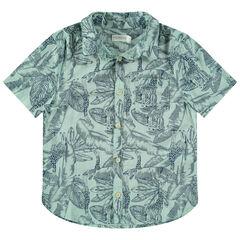 Camisa de manga corta con estampado de jungla all over