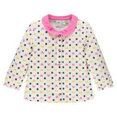 Camiseta manga larga cuello Claudine con estampado Minnie Disney