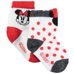 Juego de 2 pares de calcetines a juego con lunares y Minnie Disney