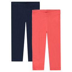 Lote de 2 pantalones corsario de un solo color