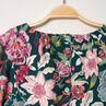 Vestido de manga larga con flores all over