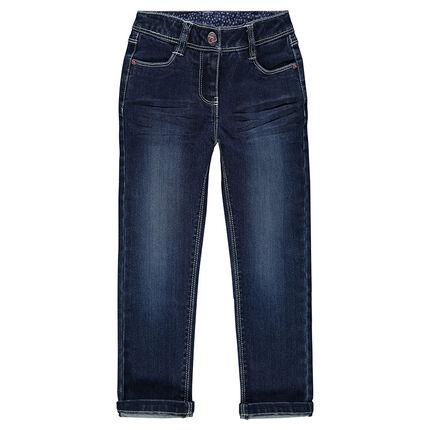 Jeans slim efecto usado