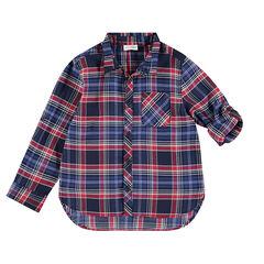 Júnior - Camisa de manga larga de cuadrod con diseño de armadura de fantasía