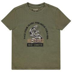 camiseta mangas cortas en algodon print serpiente