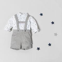 Conjunto de camisa con estrellas estampadas y peto corto