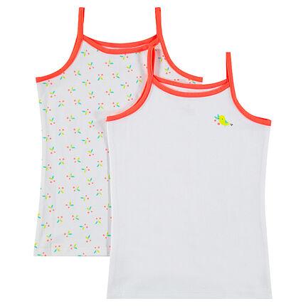 Juego de 2 camisetas de algodón con dibujos estampados