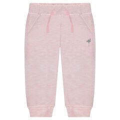 Pantalón corto de jogging de muletón jaspeado