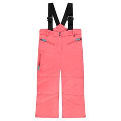 Pantalón de esquí liso con tirantes elásticos extraíbles