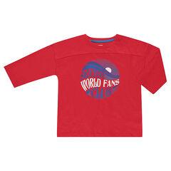 Camiseta de manga 3/4 con estampado de fantasía