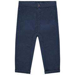 Pantalon en toile uni coton bio , Orchestra