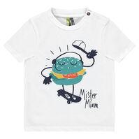 Camiseta de manga corta de punto con hamburguesa estampada