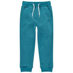 Pantalón de chándal de felpa jaspeada