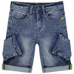 pantalon corto vaquero con bolsillos espiritu cargo