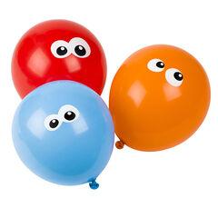 Lote de 10 globos de cumpleaños inflables con dibujos de ojos
