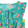 Mono corto con estampado floral all over y detalles con bolsillos