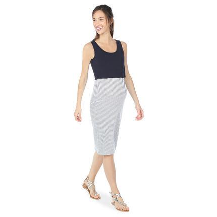 Vestido de embarazo y lactancia efecto 2 en 1 liso/a rayas