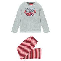 Pijama de terciopelo Disney con estampado Cars