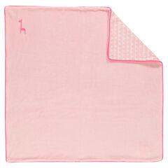 Cobija de terciopelo y popelina de algodón de color uniforme