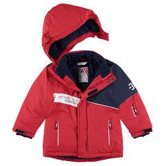 Cazadora de esquí con forro polar y bolsillos con cremallera