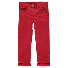 Pantalón slim con forro de micropolar
