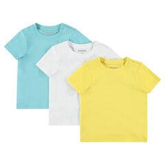 Pack de 3 camisetas lisas de manga corta , Orchestra