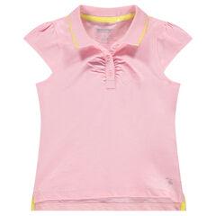 aba2a235a Polo de manga corta rosa con logo estampado