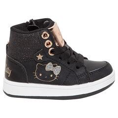 Zapatillas deportivas altas negras y doradas Hello Kitty