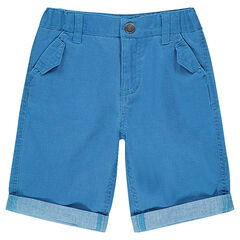 Junior - Bermudas de tela de algodón con bolsillos