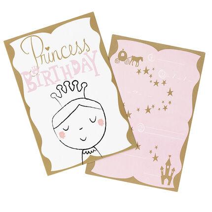 Lot de 10 cartons d'invitations motif fée