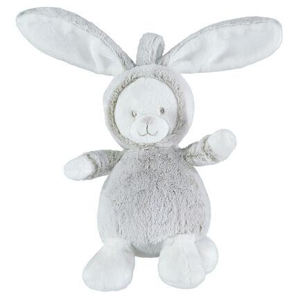 Peluche de terciopelo y borreguillo en forma de conejo