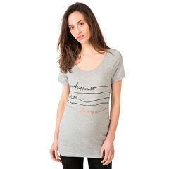 Camiseta de manga corta de embarazo con estampado de fantasía