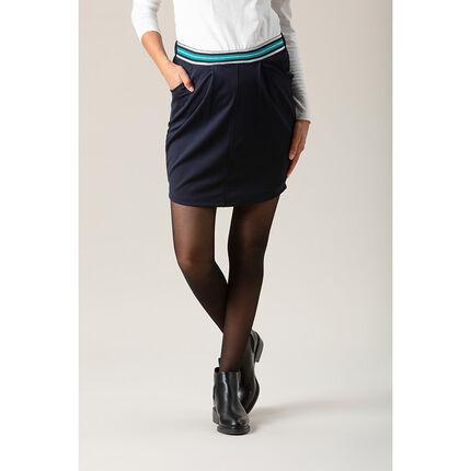 Falda de premamá corta con cintura elástica brillante